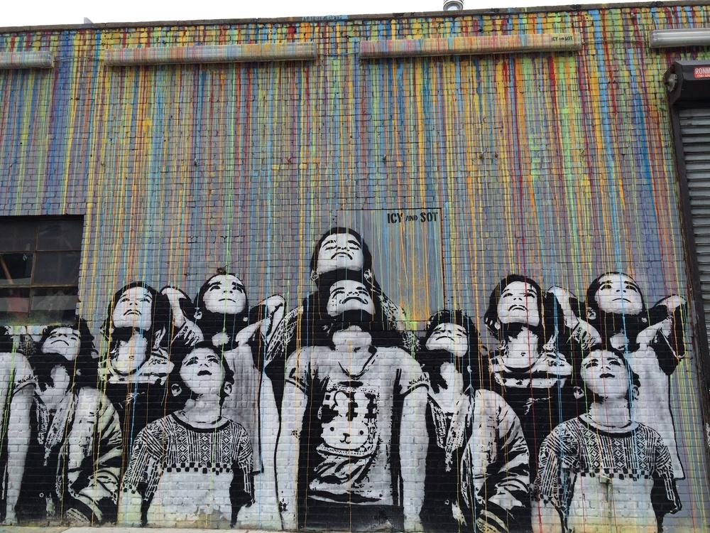 Street art on the South Side of Williamsburg, Brooklyn