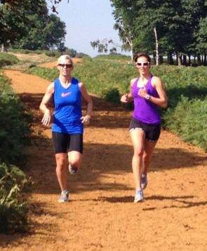 Medena and Roxy training in Royal Richmond Park, London, the hunting ground of Henry VIII !
