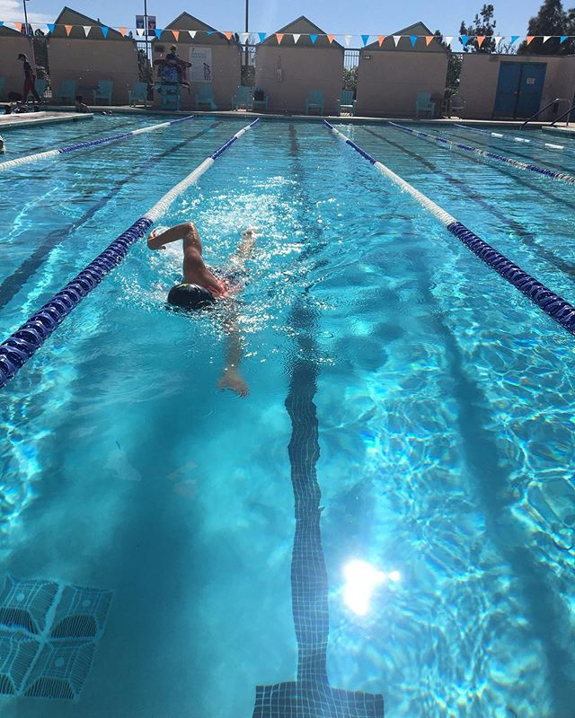 Enjoying some warm weather training this week in San Diego! 🌴☀️🏊‍♂️#swim #sandiego #warmweathertraining