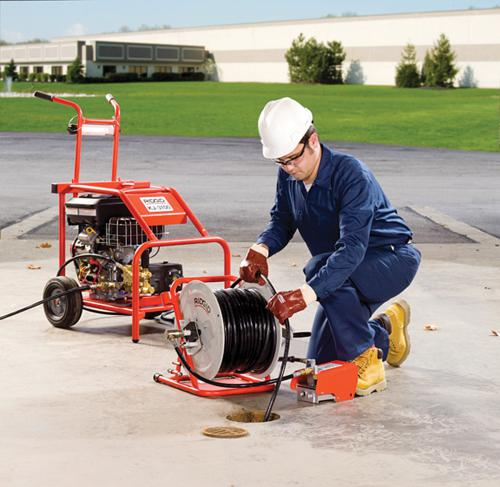 Hydro-Jet Hydro jetting consists of a high-pressure hose with a specialized nozzle connected to a machine that pressurizes the water, producing a powerful stream that can cut through minor root blockages and restore the flow of water to the drain field.