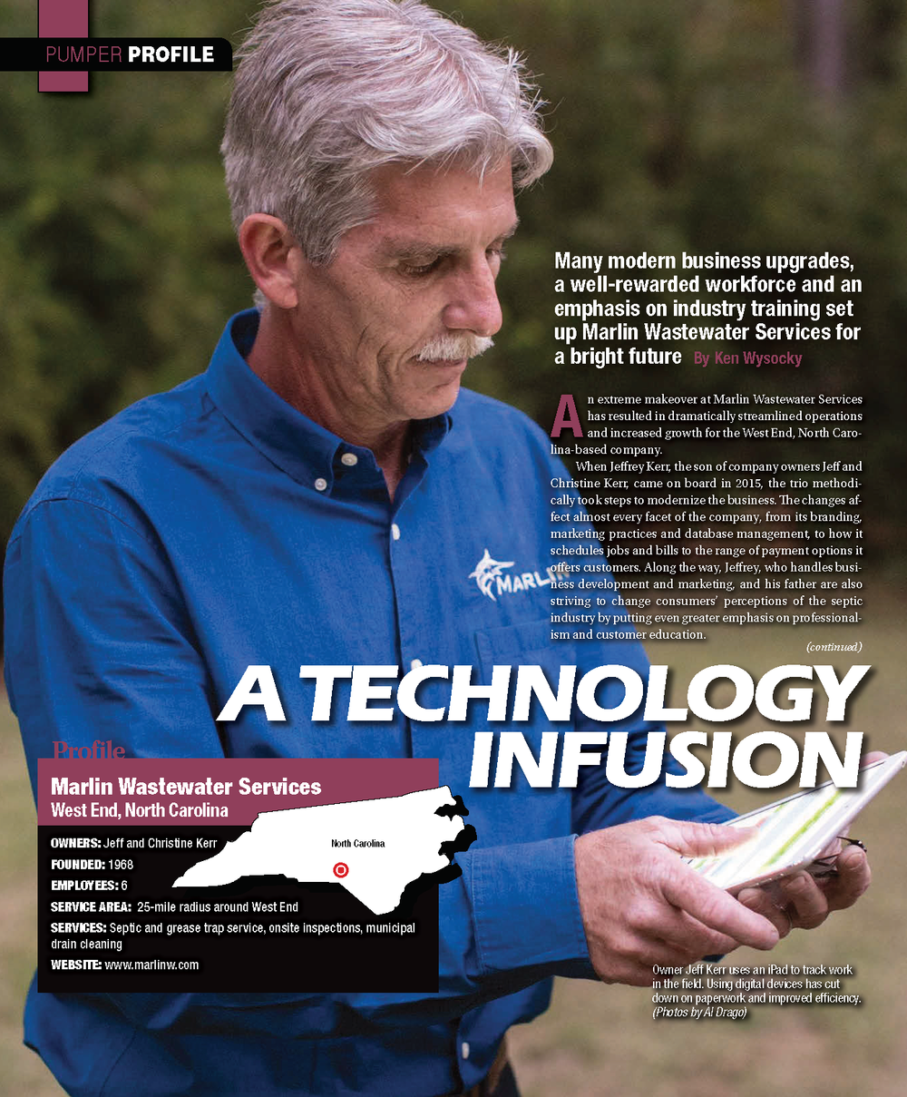 Marlin Wastewater Services Pump Magazine Article