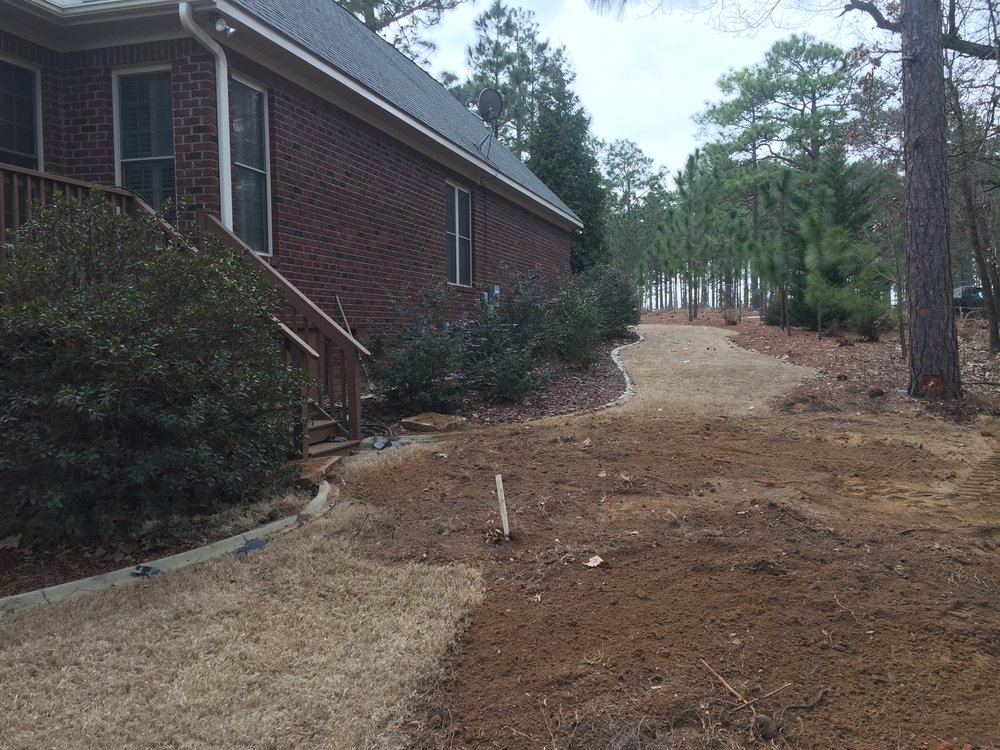 Post Septic Tank Replacement Landscaping 2