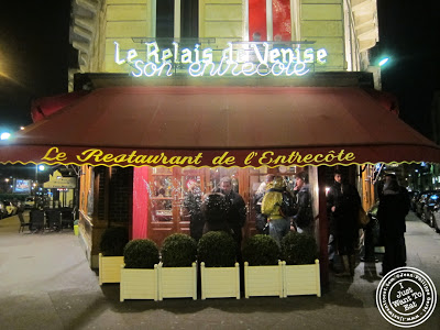 Image of the Entrance of Le Relais de Venise in Paris, France