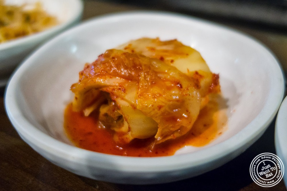 image of kimchi at Madangsui Korean BBQ in NYC, New York
