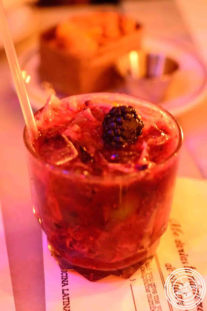 Image of Blackberry Caipirinha at Oficina Latina in Nolita, NYC, New York