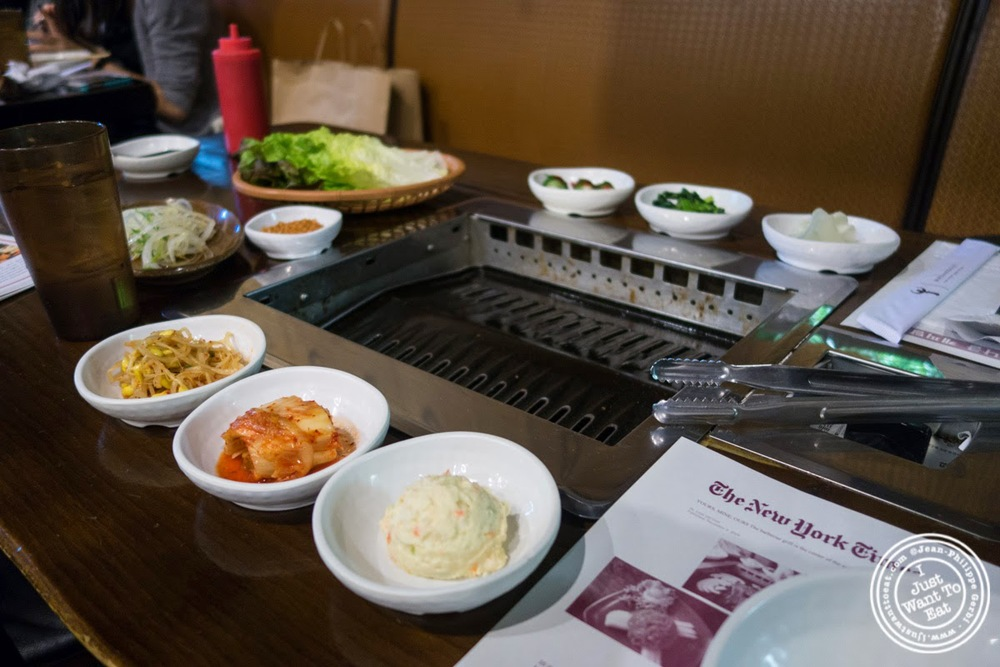 image of banchan at Madangsui Korean BBQ in NYC, New York