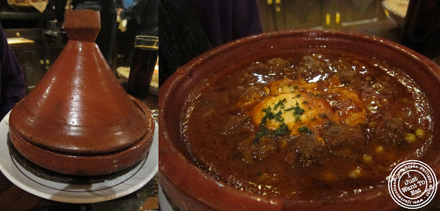 Image of Tagine de kefta aux oeufs et petits pois at Chez Bebert in Paris, France