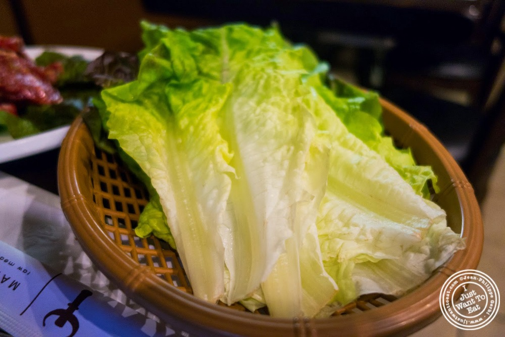 image of lettuce at Madangsui Korean BBQ in NYC, New York