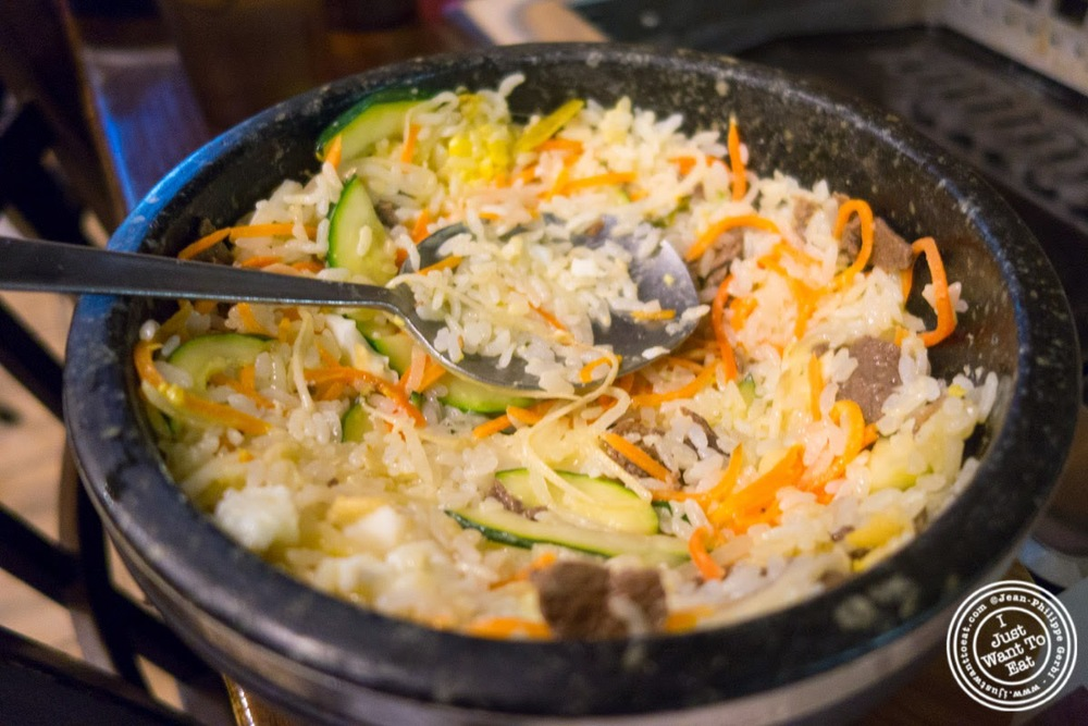 image of bulgogi bimbimbap at Madangsui Korean BBQ in NYC, New York