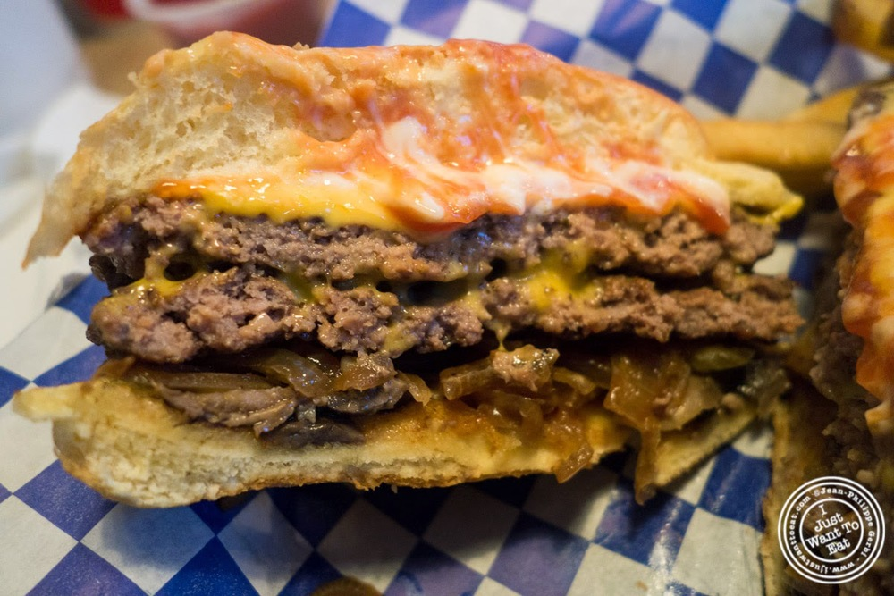 image of burger at Boardwalk Fresh Burgers and Fries in Hoboken, NJ