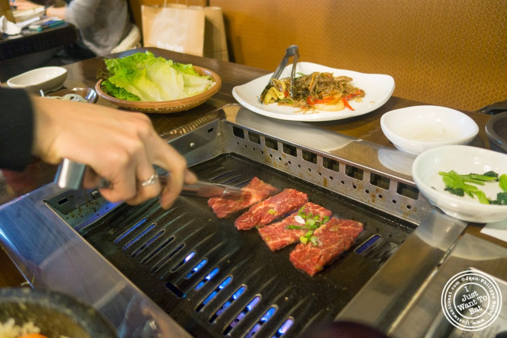image of galbi or short ribs at Madangsui Korean BBQ in NYC, New York