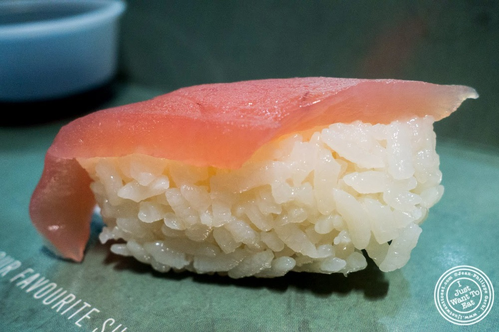 image of tuna nigiri at Wasabi Sushi and Bento, Times Square, NYC, NY