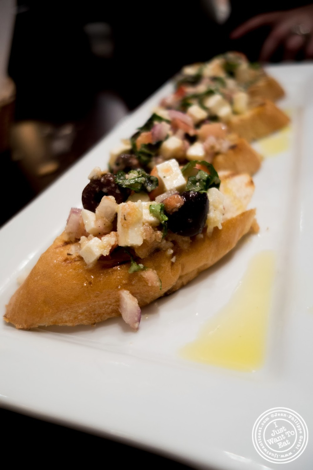 image of caprese bruschetta at The Brick Pizzeria in Hoboken, NJ