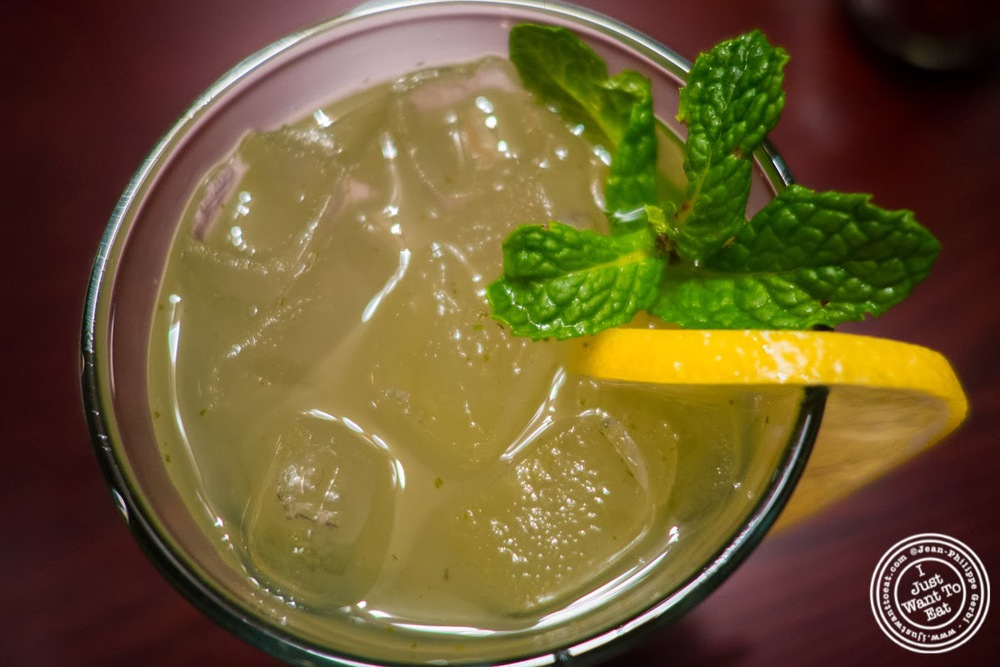 image of mint lemonade at The Brick Pizzeria in Hoboken, NJ