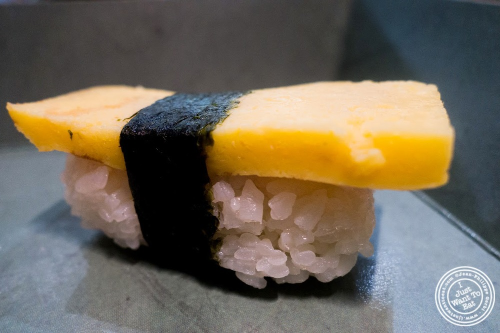image of tamago nigiri at Wasabi Sushi and Bento, Times Square, NYC, NY