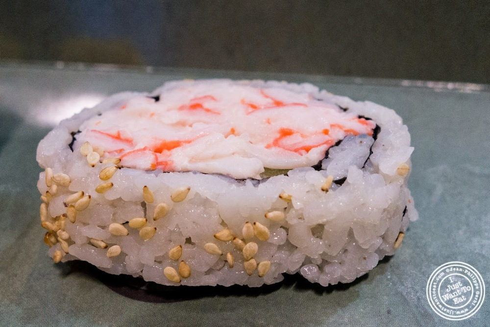 image of Crabmeat and cucumber maki at Wasabi Sushi and Bento, Times Square, NYC, NY