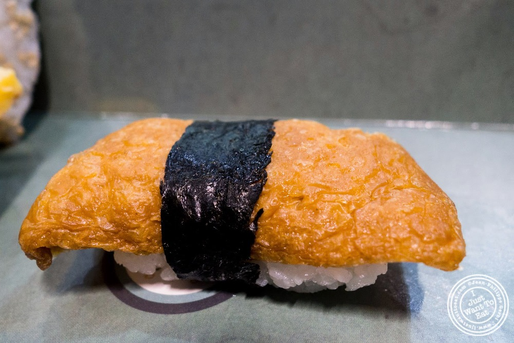 image of inari nigiri at Wasabi Sushi and Bento, Times Square, NYC, NY