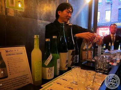 image of sake at SakaMai in NYC, New York