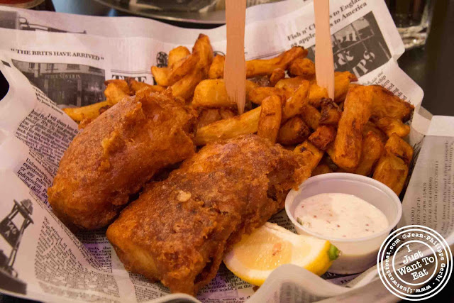 Image of Cod fish and chips at Brit & Chips in Montreal, Canada