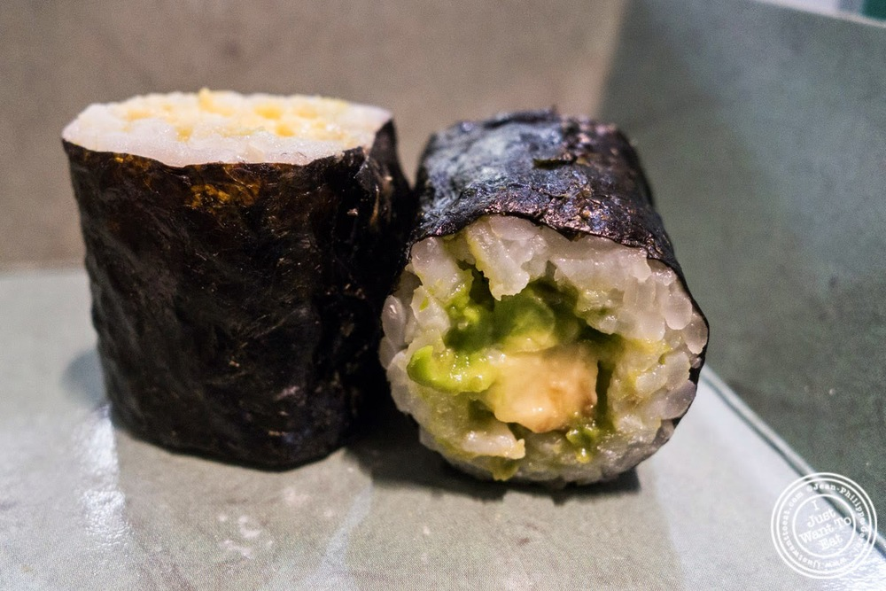 image of avocado hosomaki at Wasabi Sushi and Bento, Times Square, NYC, NY