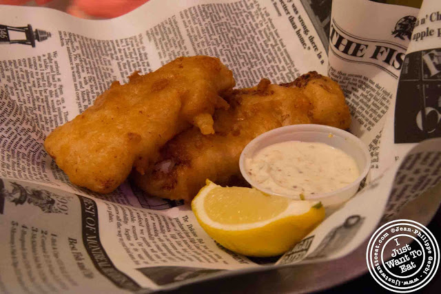 Image of Haddock fish and chips at Brit & Chips in Montreal, Canada