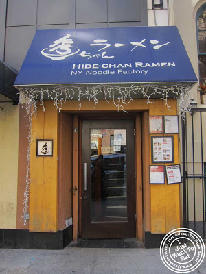 Image of Entrance of Hide-Chan ramen in NYC, New York