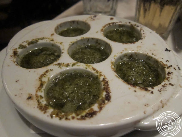 image of escargots de Bourgogne at French roast in NYC, New York