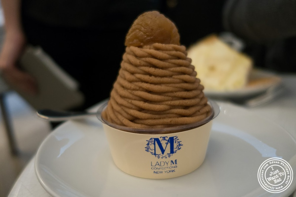 image of Mont Blanc cake at Lady M Upper East Side, NYC, New York
