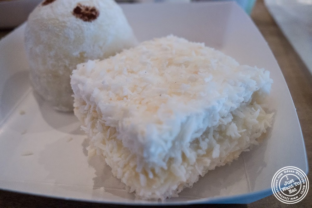 image of coconut lychee marshmallow at Chikalicious Dessert Club in the East Village