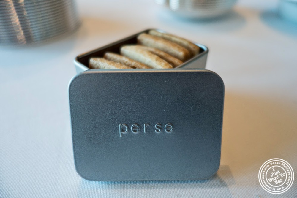 shortbread cookies at Per Se in New York, NY
