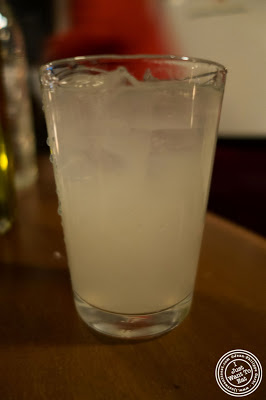 image of homemade lemonade at Capizzi  in Hell's Kitchen, NYC, New York