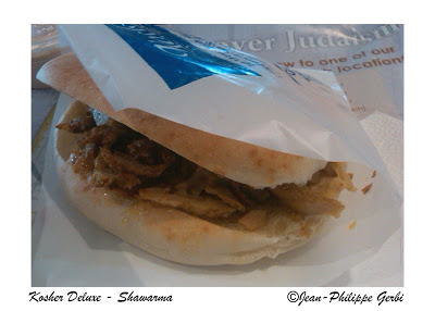 Image of Shawarma at Kosher Deluxe in NYC, New York