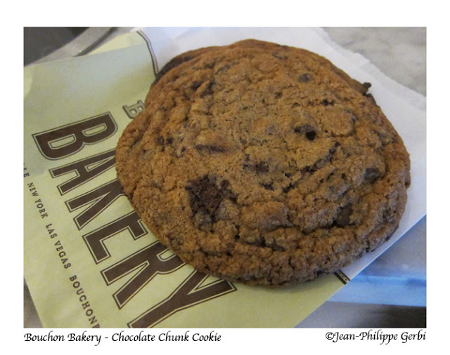 Image of chocolate chunk cookie at Bouchon Bakery at Columbus Circle Time Warner Building in NYC, New York