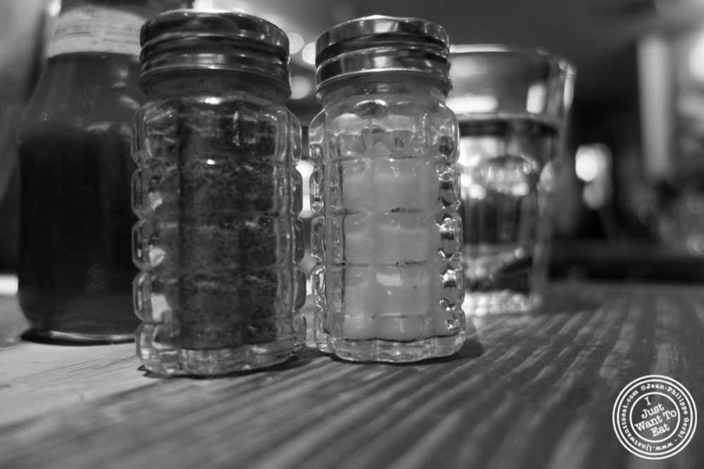 image of salt and pepper at BXL Café in the Theater District, NYC, New York