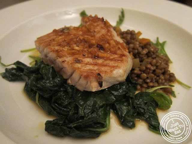 Image of Tuna and spinach at Vasco and Piero's Pavilion Italian restaurant in London, England