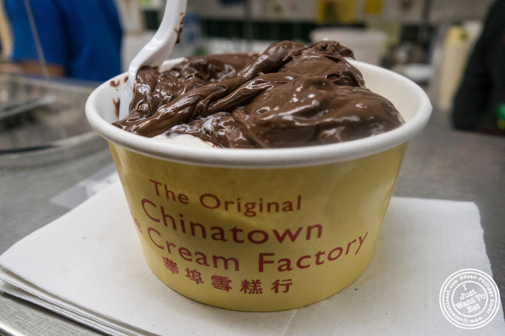 image of vanilla and nutella ice cream at The Chinatown Ice Cream Factory, NYC, NY