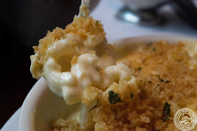 image of mac and cheese at Dino and Harry's steakhouse in Hoboken, NJ