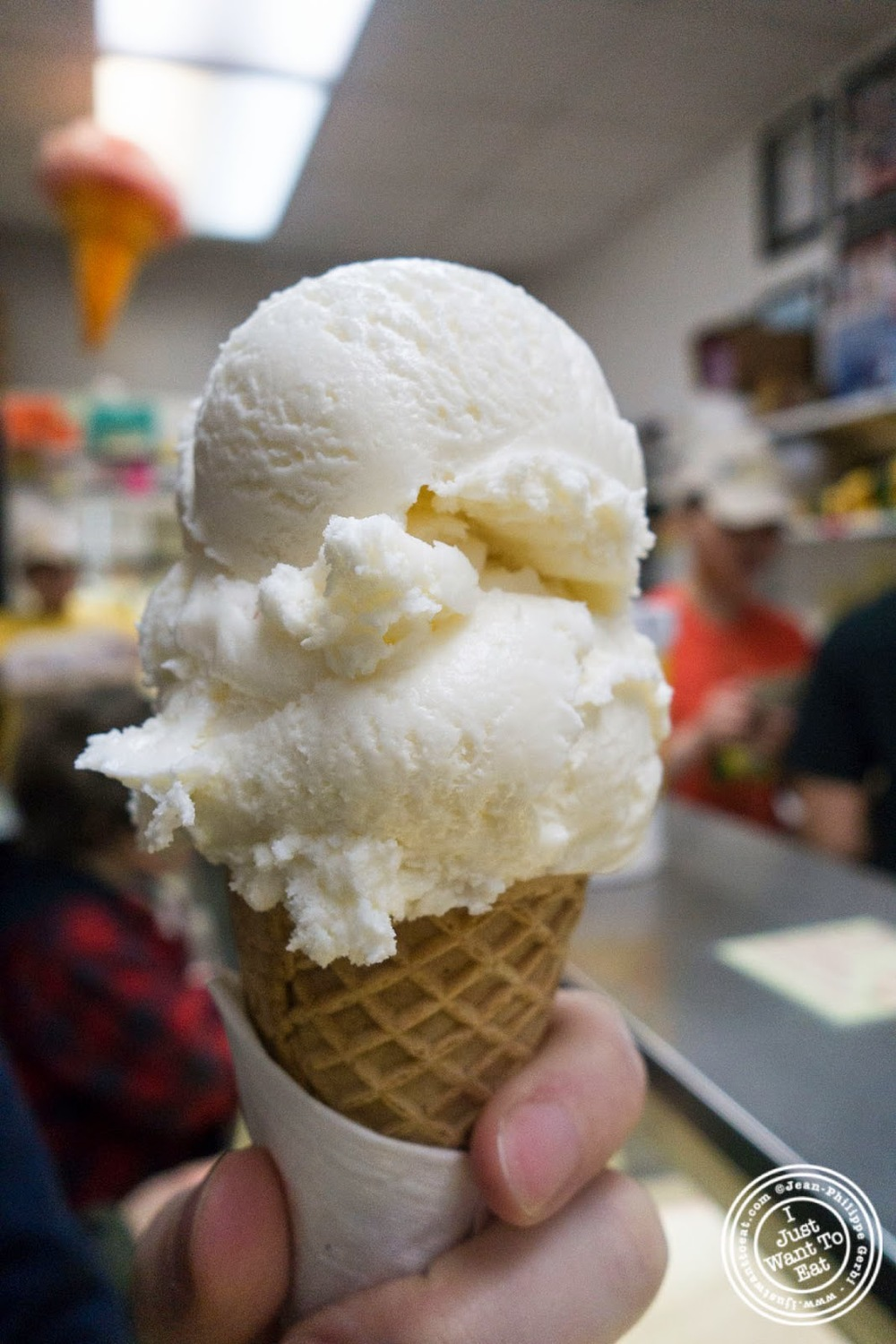 image of coconut ice cream at The Chinatown Ice Cream Factory, NYC, NY