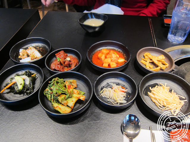 Image of Banchan at Miss Korea BBQ in Koreatown NYC, New York