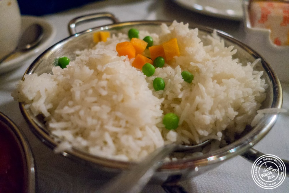 image of pulao rice at Brick Lane Curry House in the East Village, NYC, New York