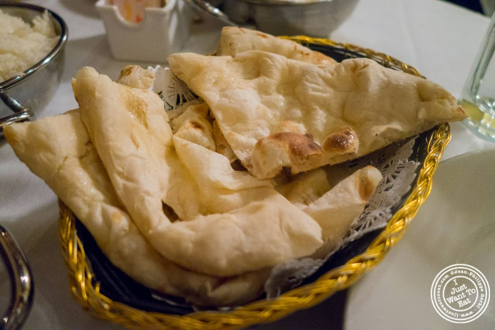 image of naan at Brick Lane Curry House in the East Village, NYC, New York