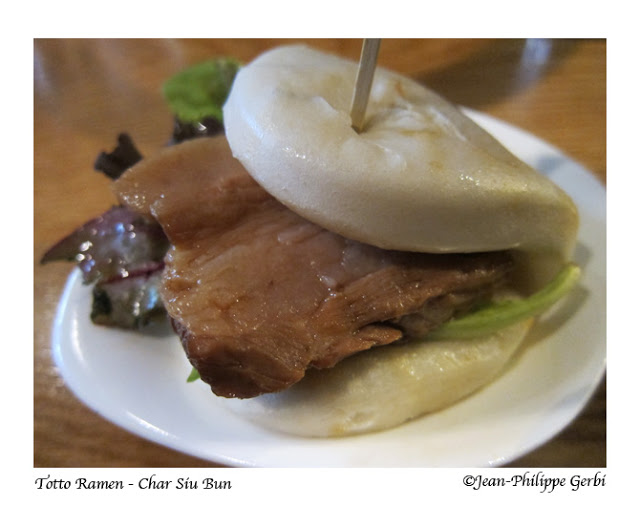 Image of Pork buns at Totto Ramen in NYC, New York
