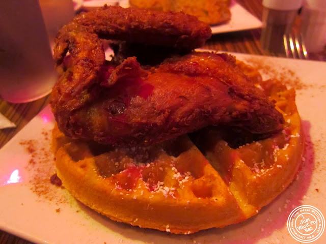image of Chicken and waffle at The Pink Tea Cup in NYC, New York