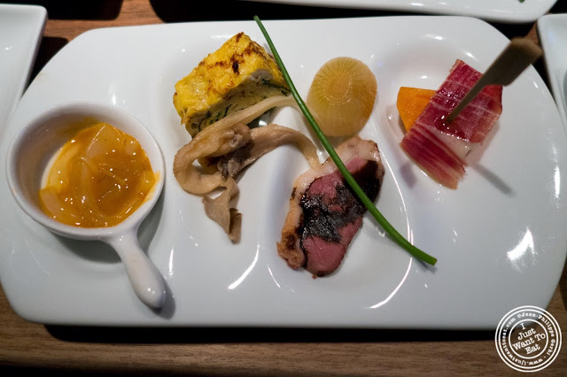 image of various dishes at Jukai, Japanese restaurant Midtown East, NYC, New York