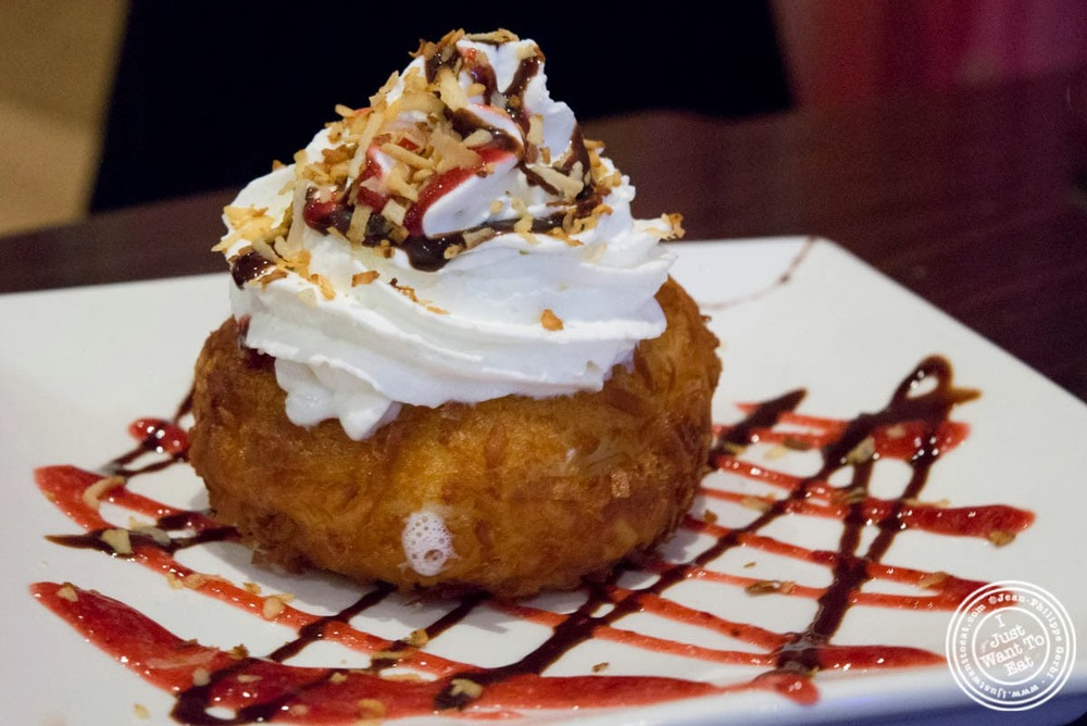 image of fried coconut ice cream at E-San Thai in Murray Hill, NYC, New York