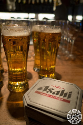 image of Asahi super dry beer at Jukai, Japanese restaurant Midtown East, NYC, New York