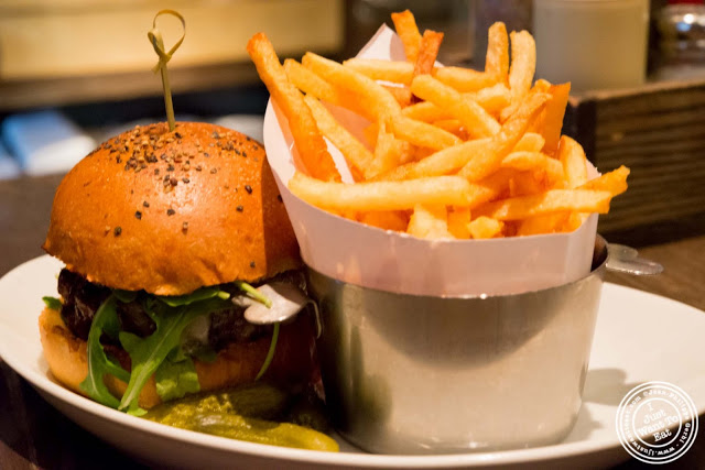 image of Frenchie burger at DBGB in NYC, New York