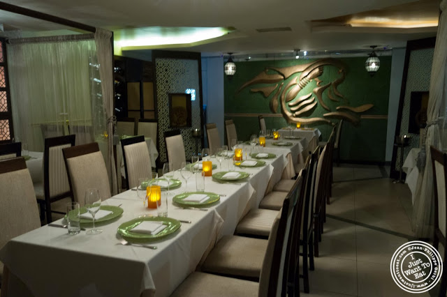 image of dining room at Tulsi, Indian restaurant in Midtown East, NYC, New York