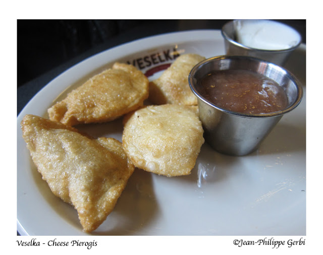 Image of Cheese pierogis at Veselka in the East Village NYC, New York