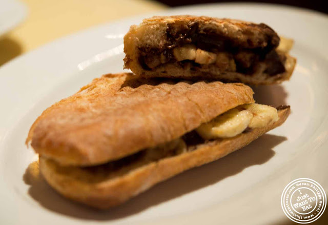 Image of Nutella and banana sandwich at Bite in NYC, New York